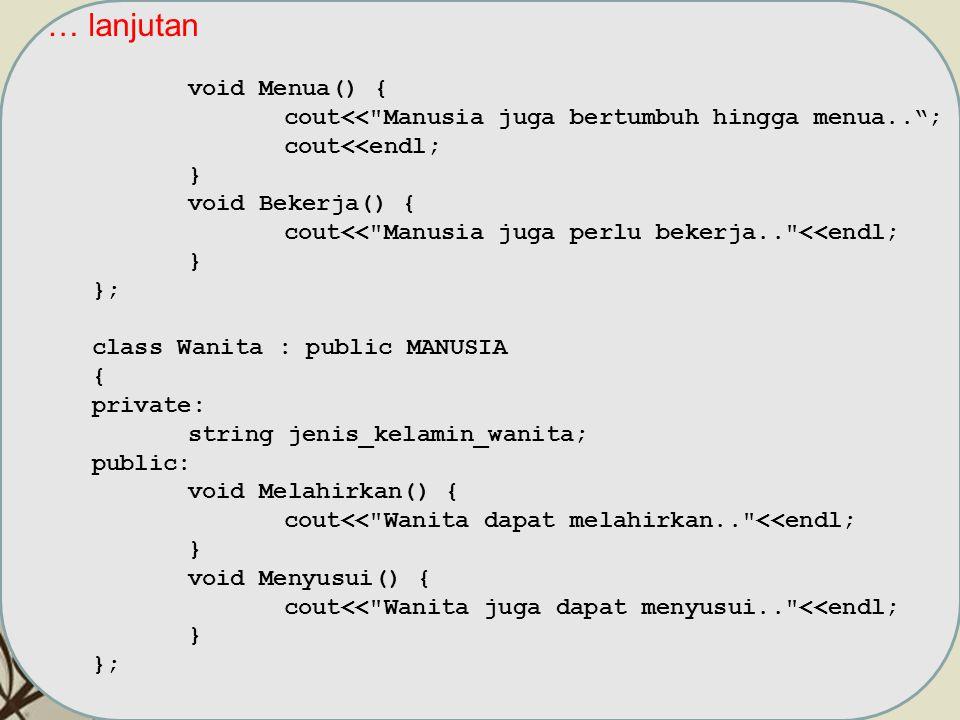 Free Powerpoint TemplatesPage 7 … lanjutan void Menua() { cout<<