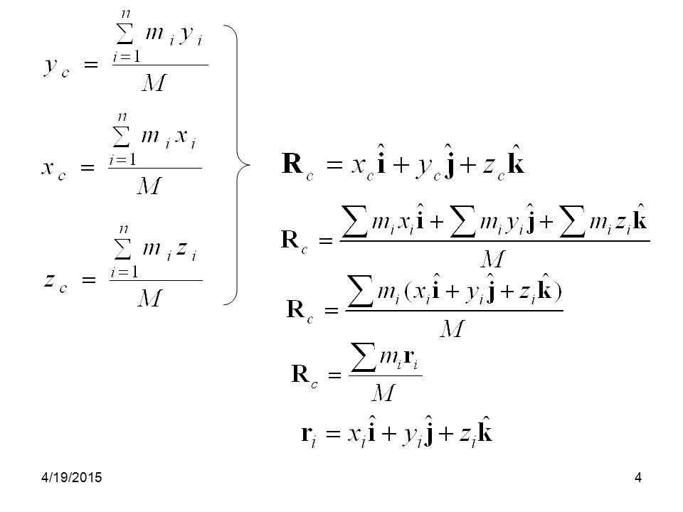 4/19/201545 Contoh.Benda massa 1 kg bergerak dengan kecepatan, v 1 = 3 i – 2 j.
