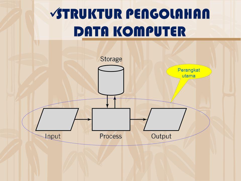 Perangkat utama STRUKTUR PENGOLAHAN DATA KOMPUTER