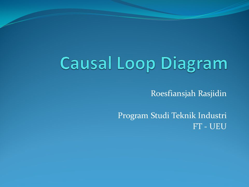 Roesfiansjah Rasjidin Program Studi Teknik Industri FT - UEU