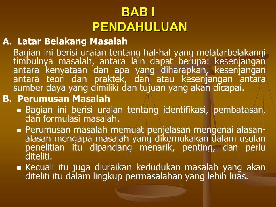 BAB I PENDAHULUAN C.
