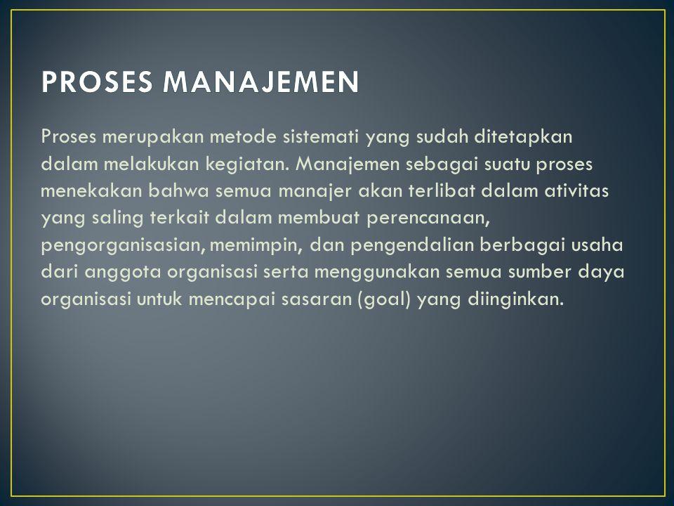 Proses merupakan metode sistemati yang sudah ditetapkan dalam melakukan kegiatan.