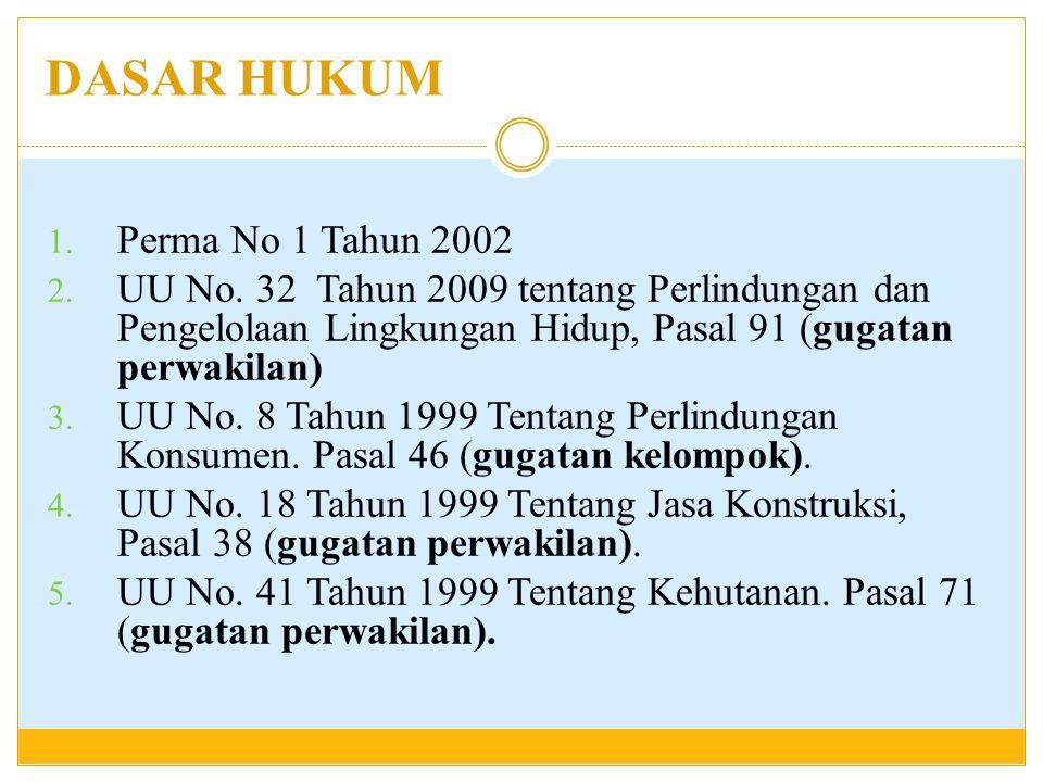 CITIZEN LAW SUIT Contoh gugatan citizen law suit : 1.