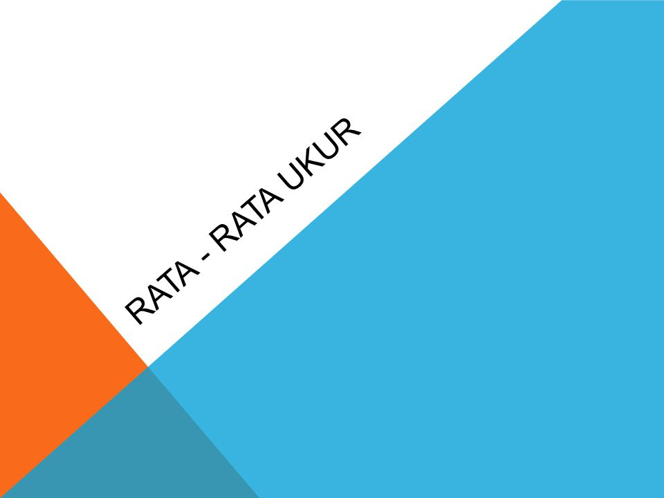 RATA - RATA UKUR
