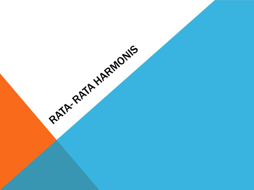 RATA- RATA HARMONIS