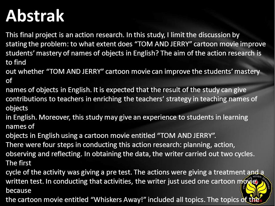 Abstrak This final project is an action research.