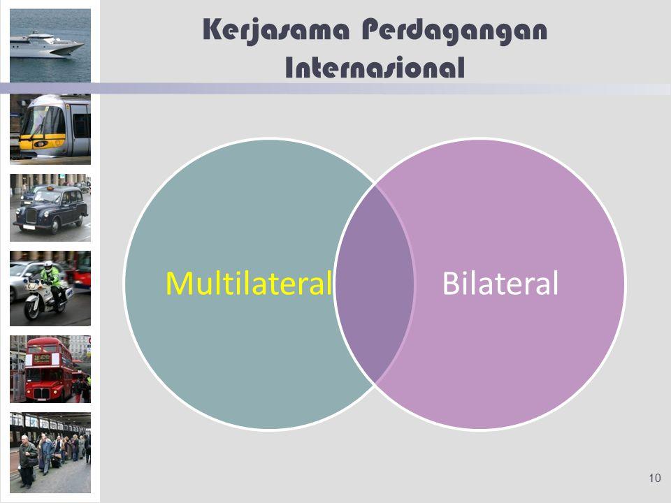 Kerjasama Perdagangan Internasional MultilateralBilateral 10