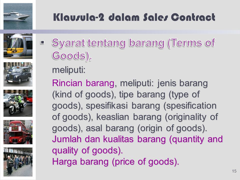 Klausula-2 dalam Sales Contract 15