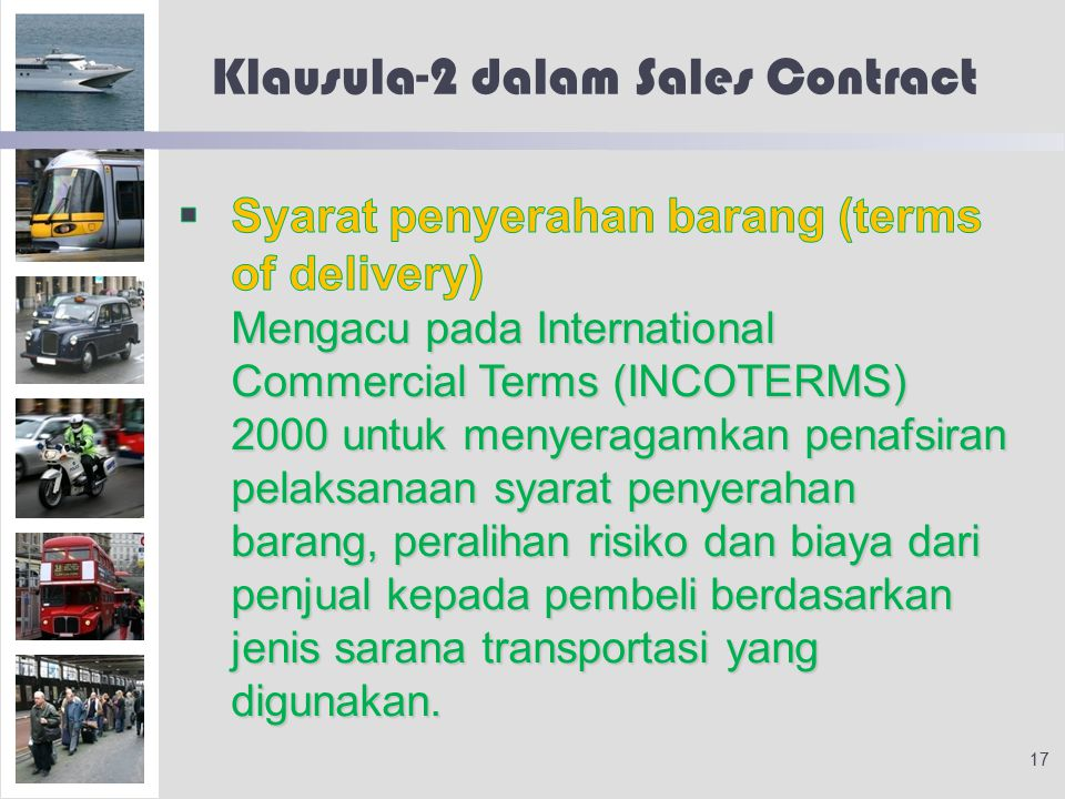 Klausula-2 dalam Sales Contract 17