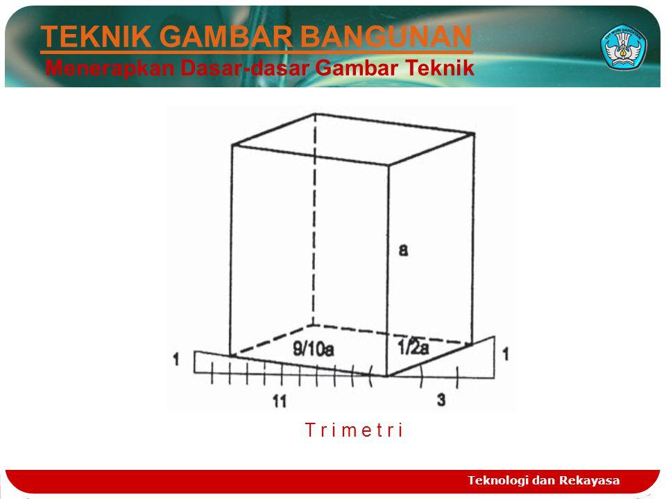 Teknologi dan Rekayasa TEKNIK GAMBAR BANGUNAN Menerapkan Dasar-dasar Gambar Teknik T r i m e t r iT r i m e t r i