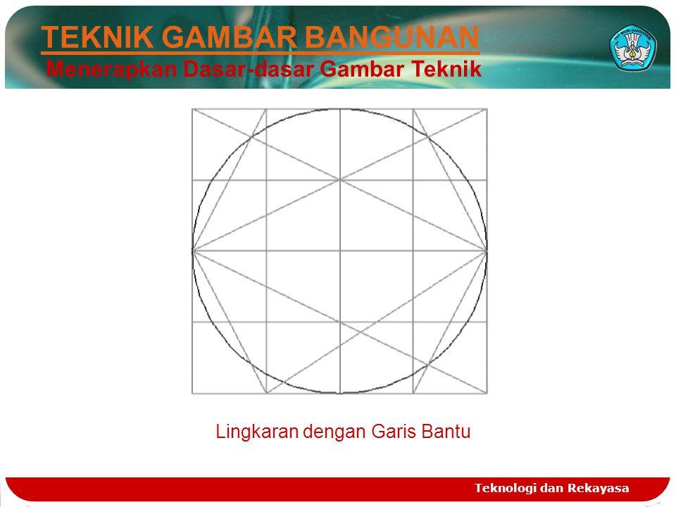 Teknologi dan Rekayasa TEKNIK GAMBAR BANGUNAN Menerapkan Dasar-dasar Gambar Teknik Lingkaran dengan Garis Bantu