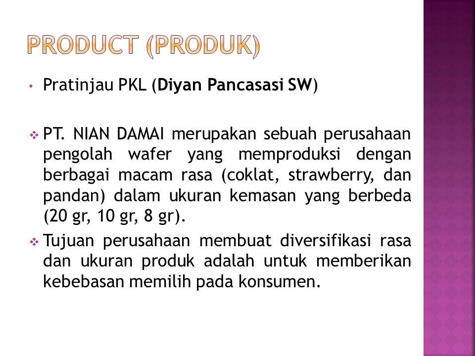 Pratinjau PKL (Diyan Pancasasi SW)  PT. NIAN DAMAI merupakan sebuah perusahaan pengolah wafer yang memproduksi dengan berbagai macam rasa (coklat, st
