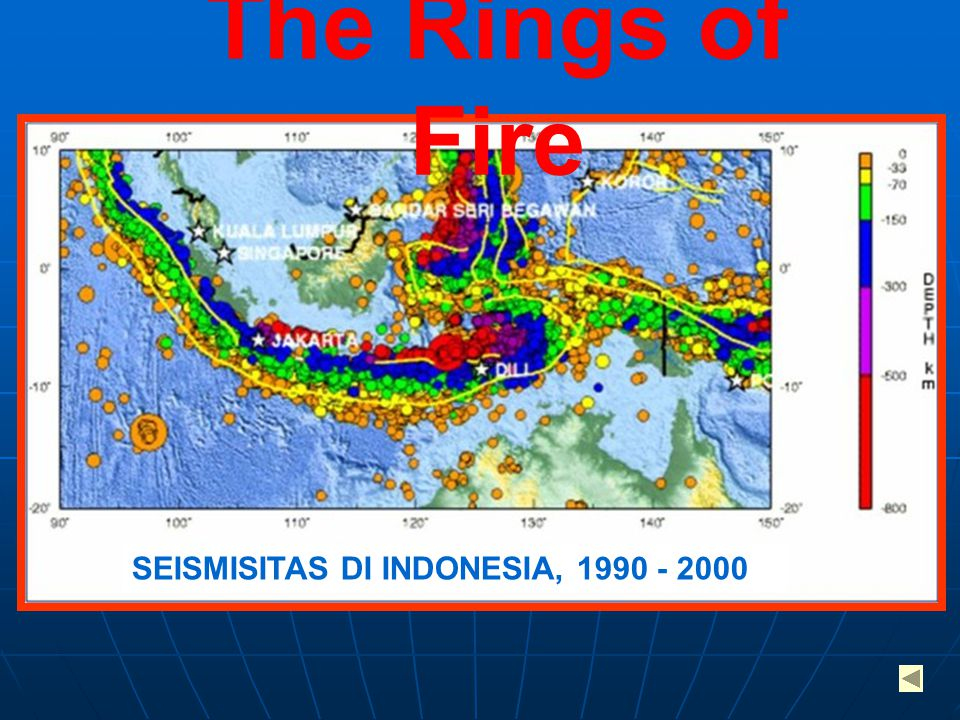 The Rings of Fire SEISMISITAS DI INDONESIA, 1990 - 2000