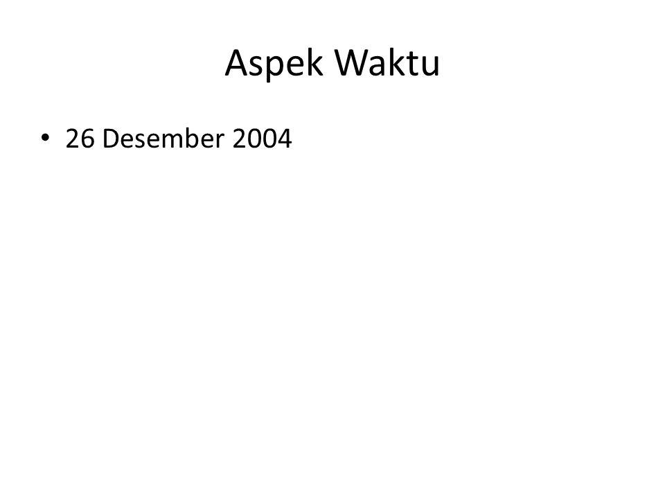 Aspek Waktu 26 Desember 2004