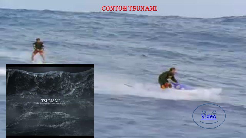 P E N G E R T I A N T S U N A M I Tsunami adalah perpindahan badan air yang disebabkan oleh perubahan permukaan laut secara vertikal dengan tiba-tiba.