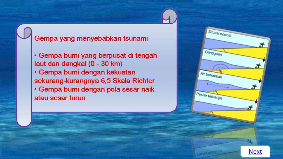 Tanah longsor yang terjadi di dasar laut serta runtuhan gunung api juga dapat mengakibatkan gangguan air laut yang dapat menghasilkan tsunami. Demikia