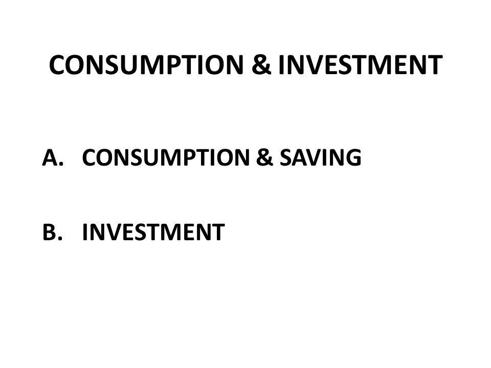 A. CONSUMPTION & SAVING