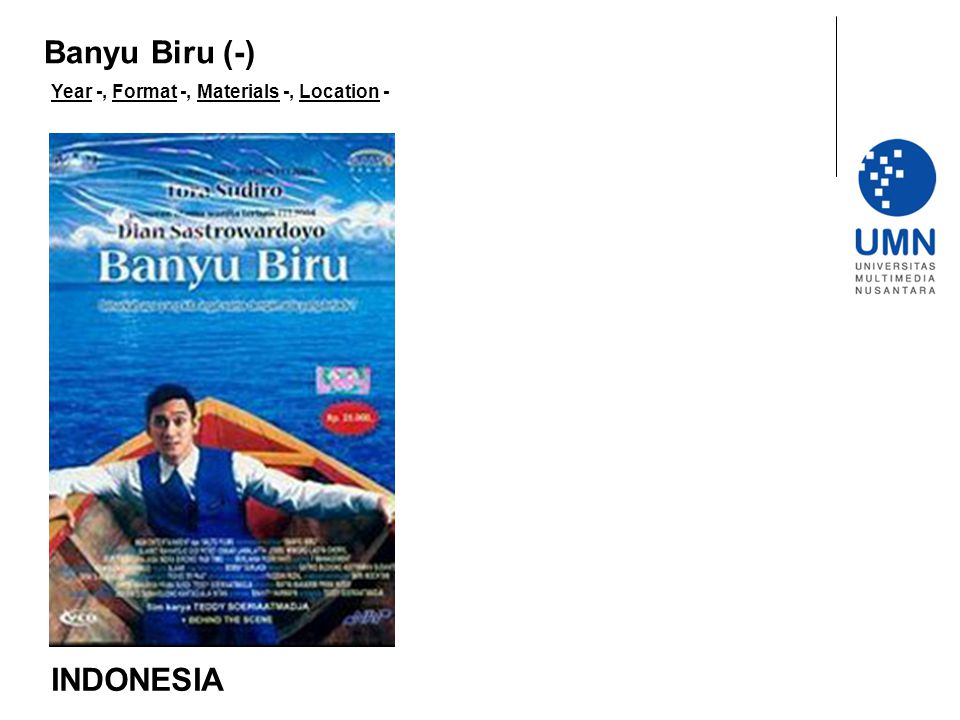 Year -, Format -, Materials -, Location - INDONESIA Banyu Biru (-)