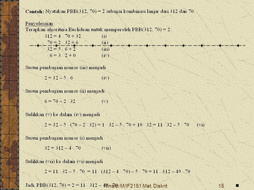 Rinaldi M/IF2151 Mat. Diskrit15