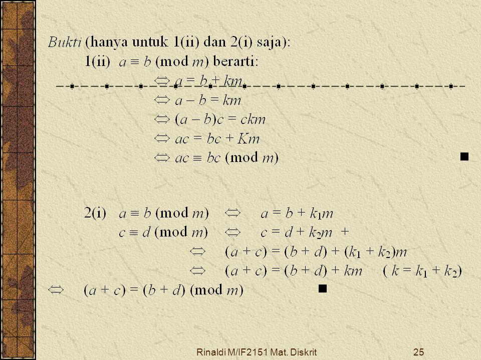 Rinaldi M/IF2151 Mat. Diskrit25