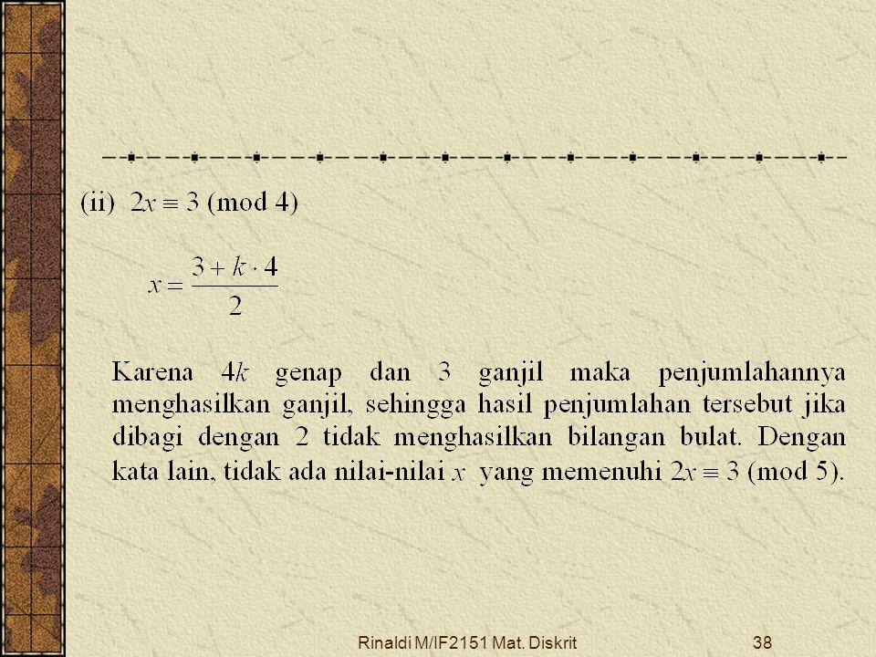 Rinaldi M/IF2151 Mat. Diskrit38