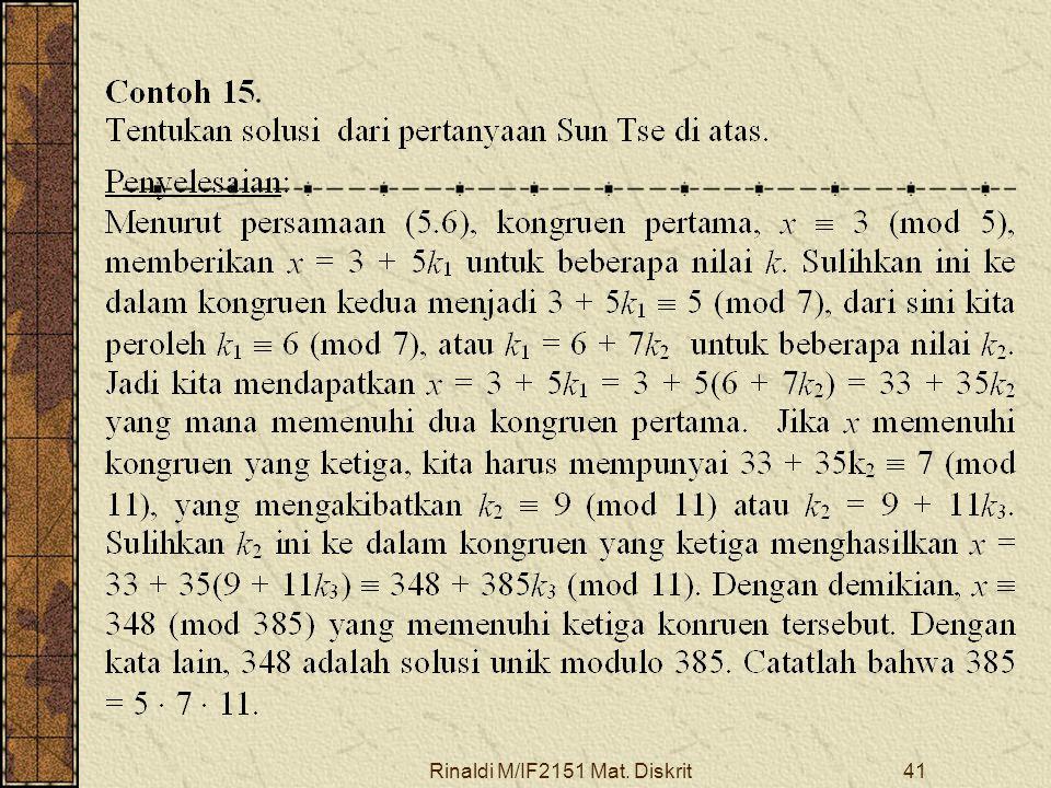 Rinaldi M/IF2151 Mat. Diskrit41