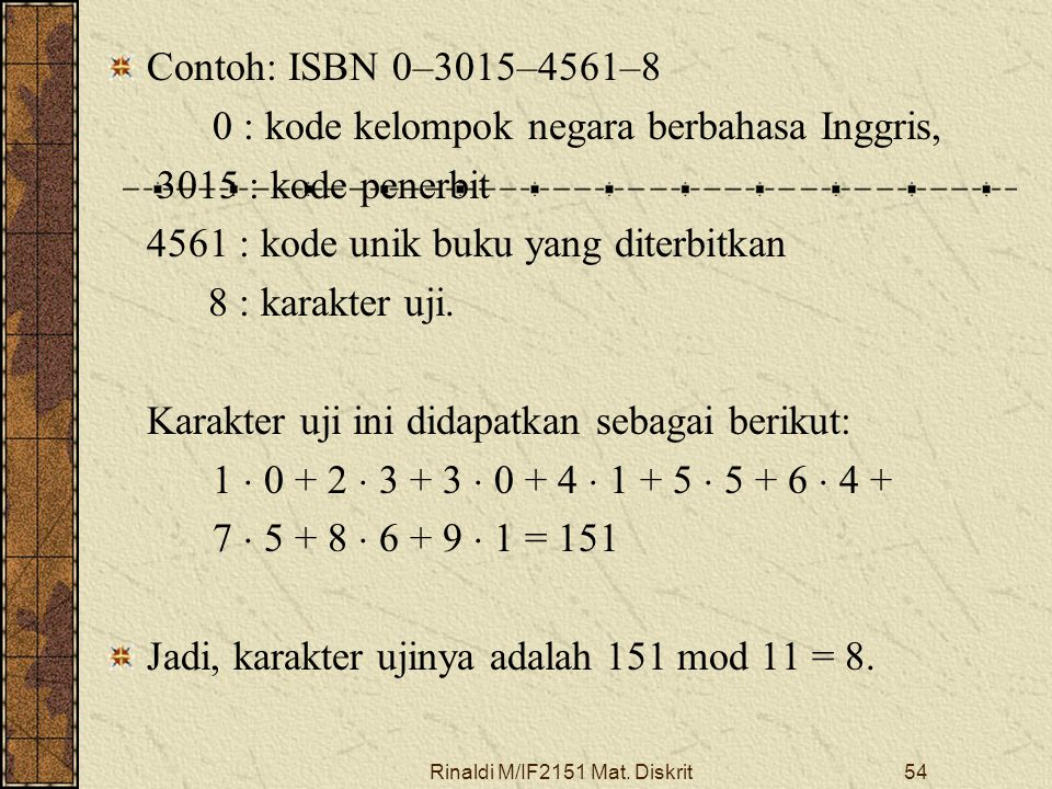 Rinaldi M/IF2151 Mat. Diskrit55