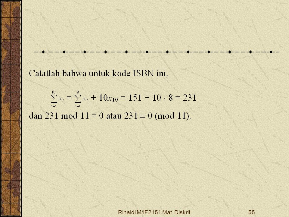 Rinaldi M/IF2151 Mat. Diskrit55