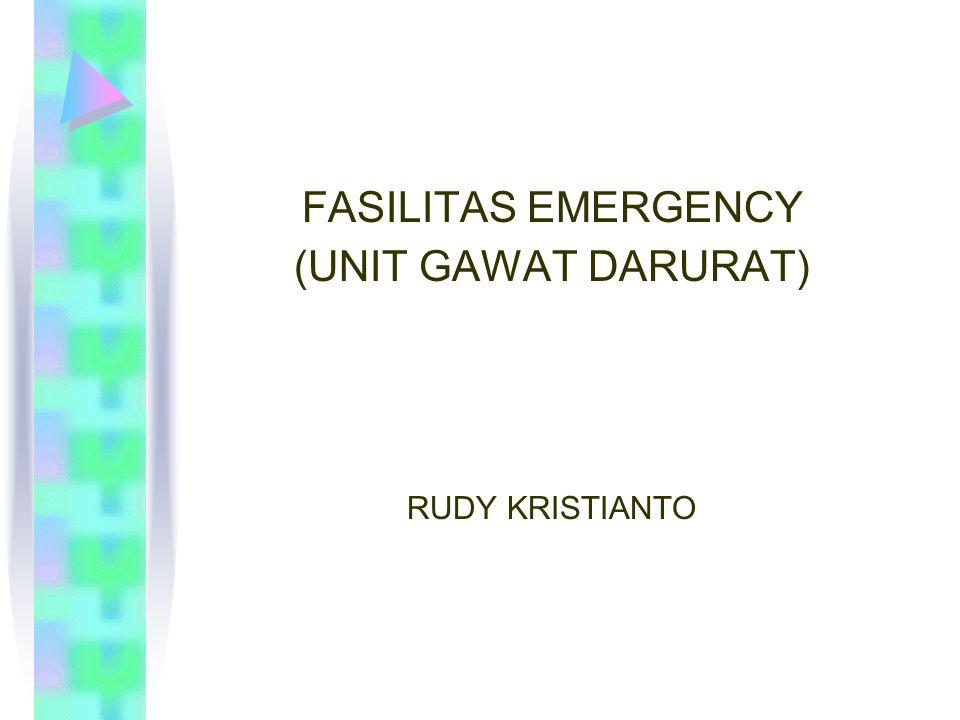 RUANG EMERGENCY PENDAHULUAN Pasien emergency, adalah pasien pengunjung RS yang tidak direncanakan .
