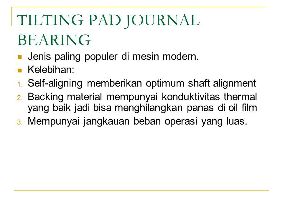 TILTING PAD JOURNAL BEARING Jenis paling populer di mesin modern.