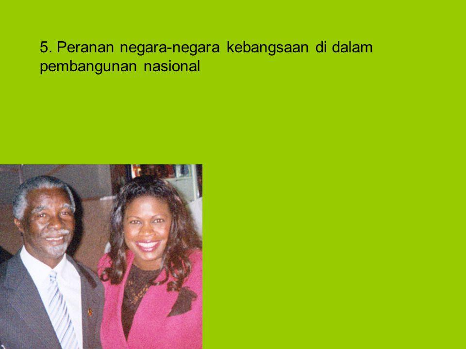 5. Peranan negara-negara kebangsaan di dalam pembangunan nasional