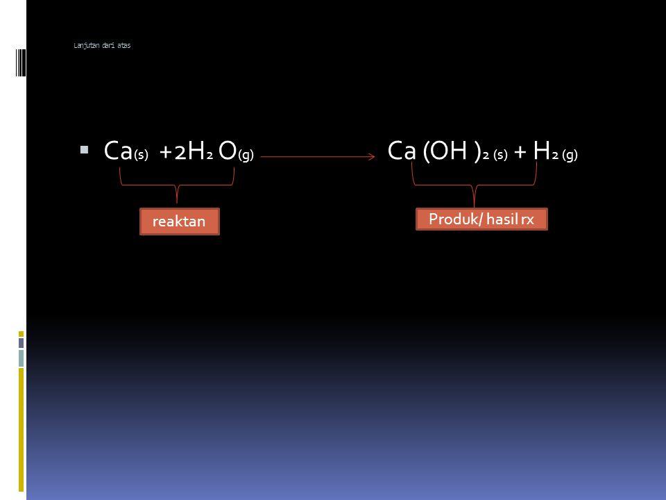 PERSAMAAN REAKSI  Persamaan kimia = persamaan yang di gunakan untuk menjabarkan suatu reaksi kima.