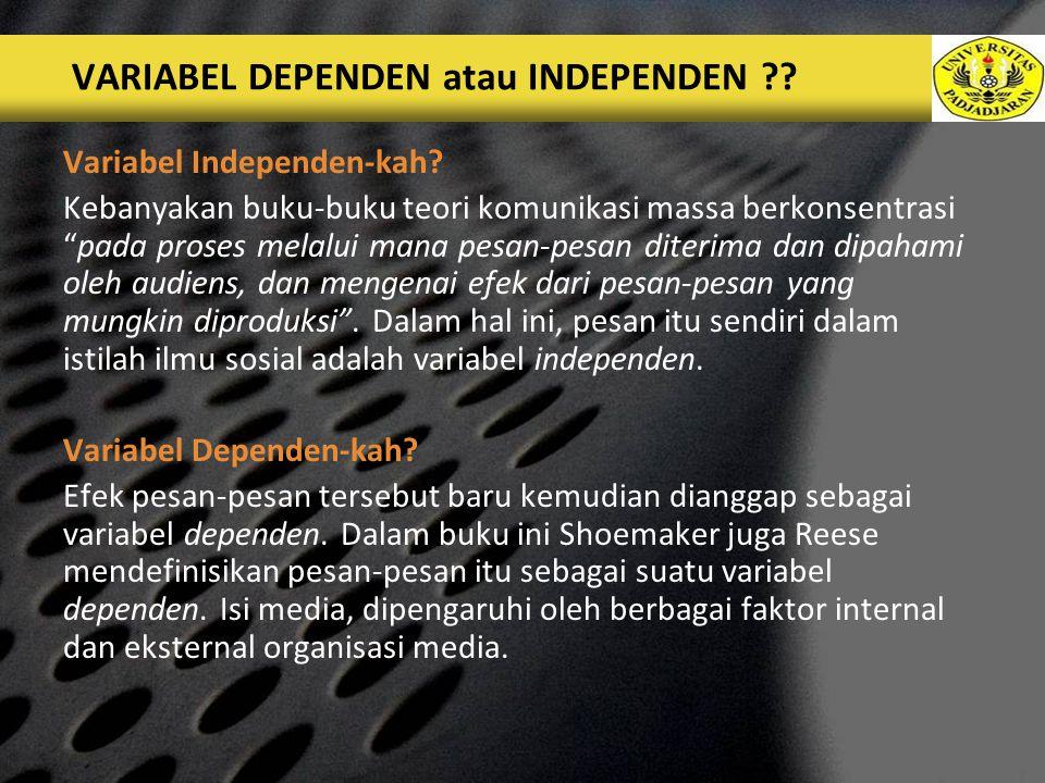 LOGO VARIABEL DEPENDEN atau INDEPENDEN ?.Variabel Independen-kah.