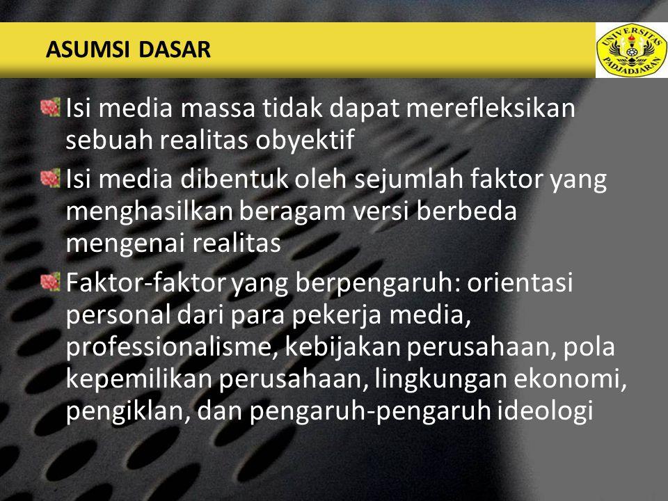 LOGO PENJELASAN TAMBAHAN...(INFLUENCE IN THE HIERARCHICAL MODEL, Chapter 5, p.64) Individual level Media routines level Organization level Extra media level Ideological level