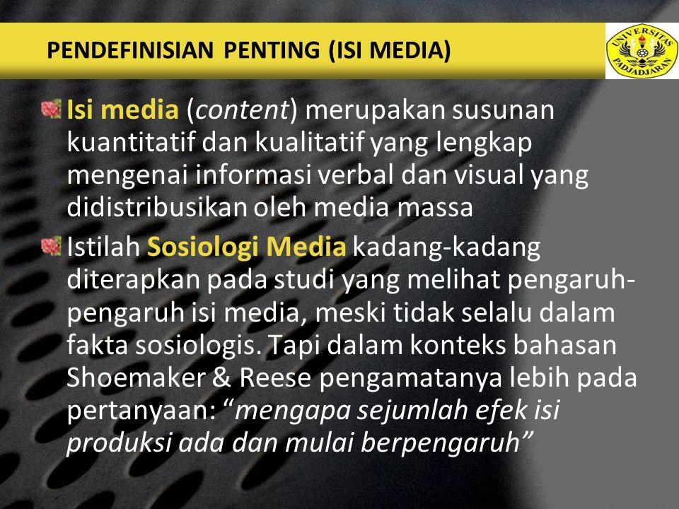 LOGO HIPOTESIS Hipotesis: semakin kuat bobot berita sebuah kejadian, semakin akan diliput oleh media massa secara terkenal.