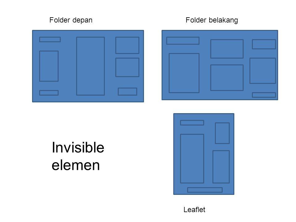 Leaflet Folder depanFolder belakang Invisible elemen