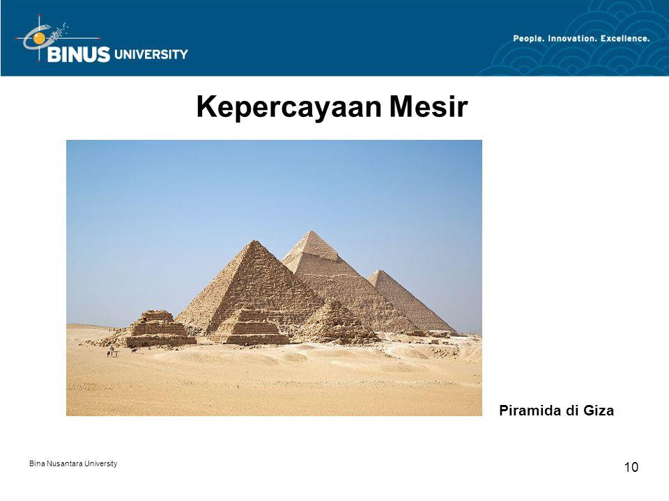 Bina Nusantara University 10 Kepercayaan Mesir Piramida di Giza
