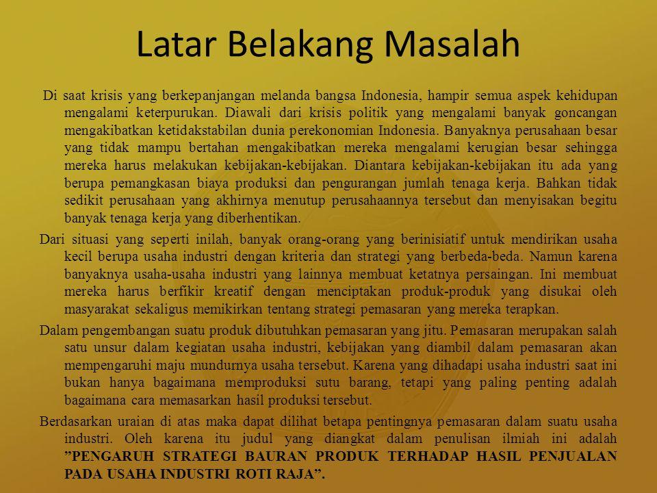 Latar Belakang Masalah Di saat krisis yang berkepanjangan melanda bangsa Indonesia, hampir semua aspek kehidupan mengalami keterpurukan. Diawali dari
