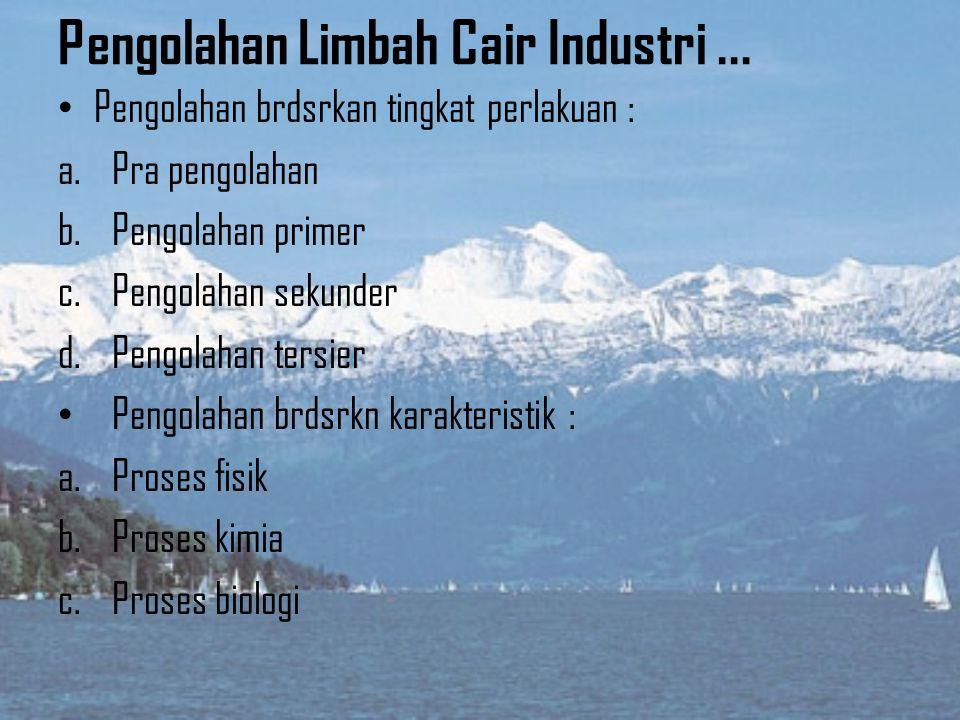 3) Limbah Industri (industrial waste)... Limbah industri yg bbntuk cair dpt berasal dr pabrik yg biasanya bnyk mggunakan air pd proses industrinya. Li