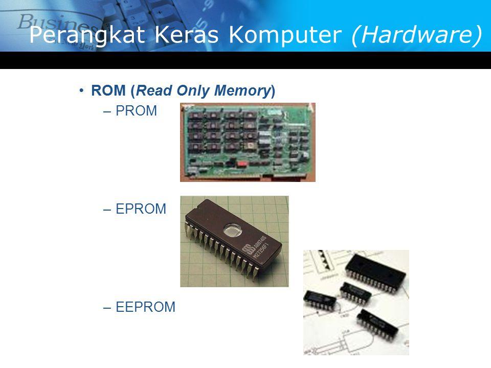 ROM (Read Only Memory) –PROM –EPROM –EEPROM Perangkat Keras Komputer (Hardware)