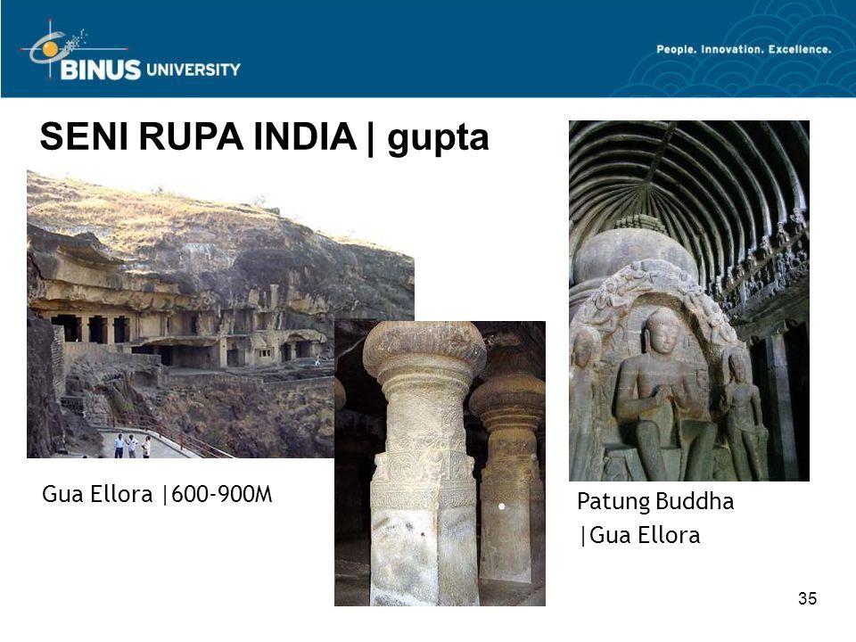 35 SENI RUPA INDIA   gupta Patung Buddha  Gua Ellora Gua Ellora  600-900M