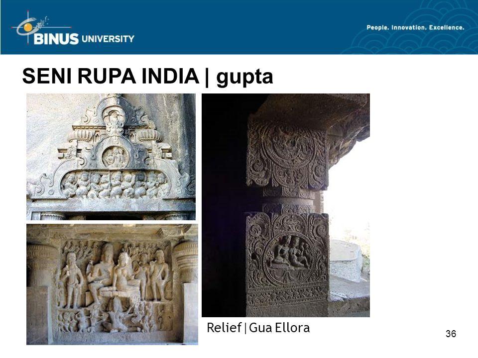 36 SENI RUPA INDIA   gupta Relief Gua Ellora