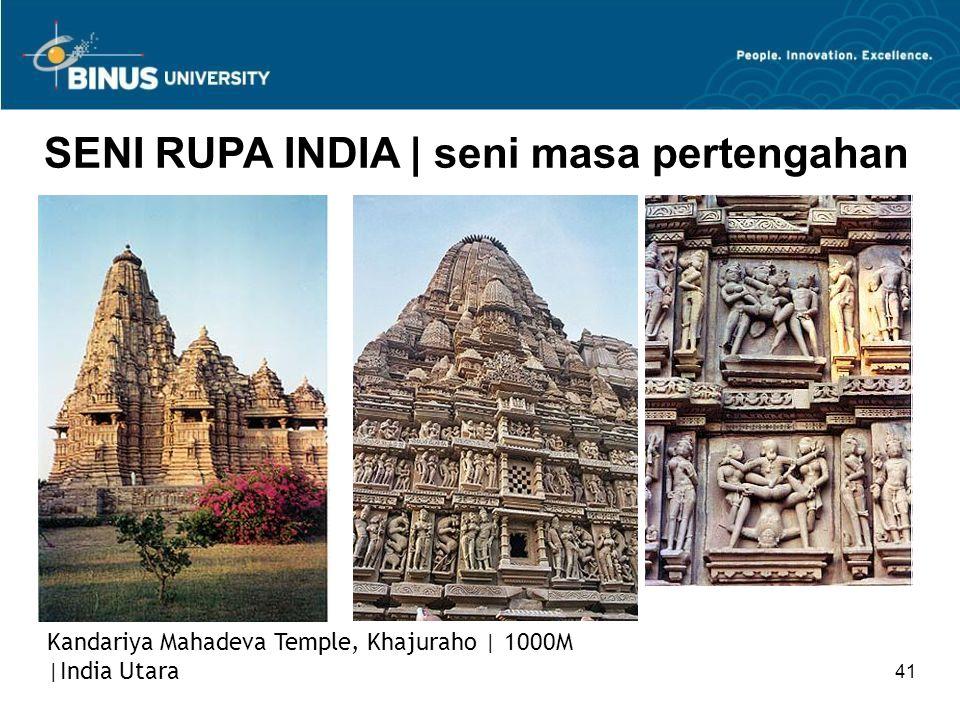 41 SENI RUPA INDIA   seni masa pertengahan Kandariya Mahadeva Temple, Khajuraho   1000M  India Utara