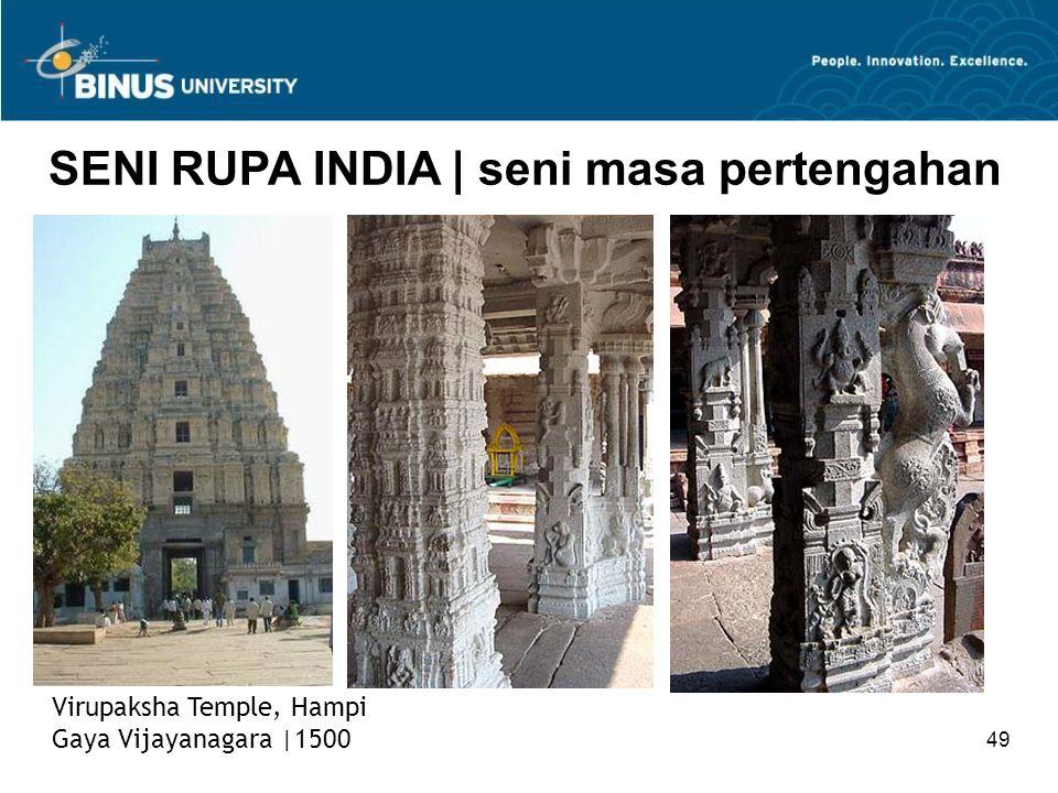 49 SENI RUPA INDIA   seni masa pertengahan Virupaksha Temple, Hampi Gaya Vijayanagara  1500