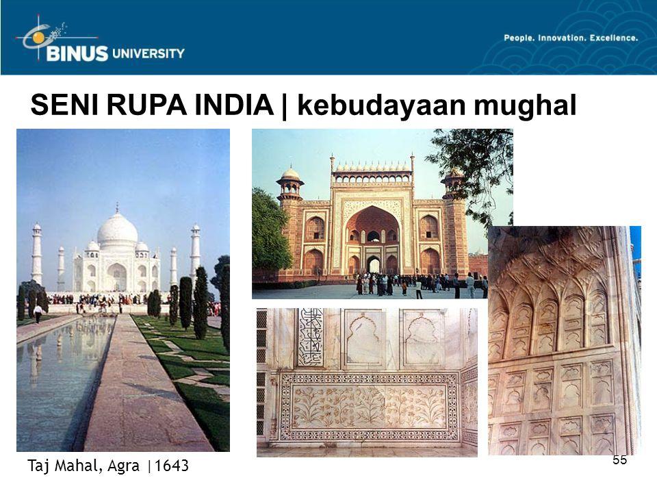 55 SENI RUPA INDIA   kebudayaan mughal Taj Mahal, Agra  1643