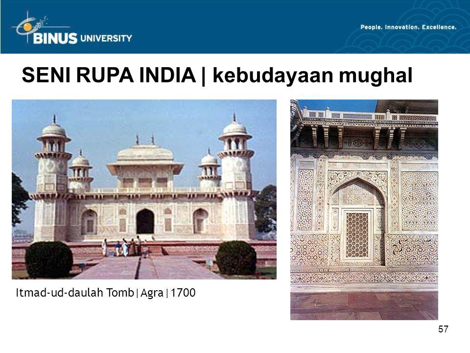 57 SENI RUPA INDIA   kebudayaan mughal Itmad-ud-daulah Tomb Agra 1700