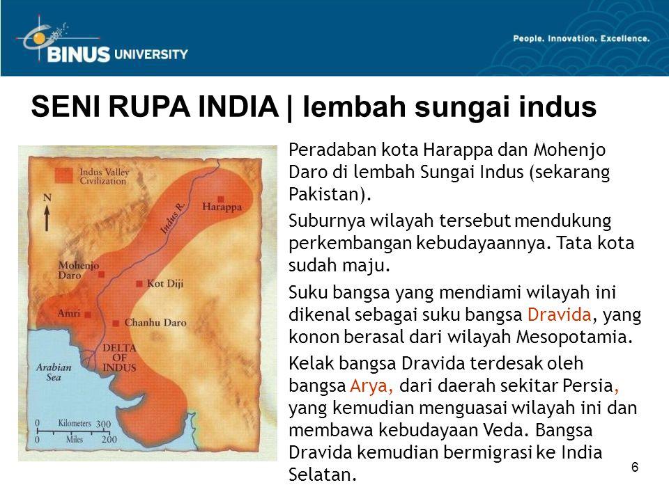 Bina Nusantara University 37 SENI RUPA INDIA   seni masa pertengahan Pada periode akhir Gupta muncul pusat-pusat seni yang bersifat lokal.