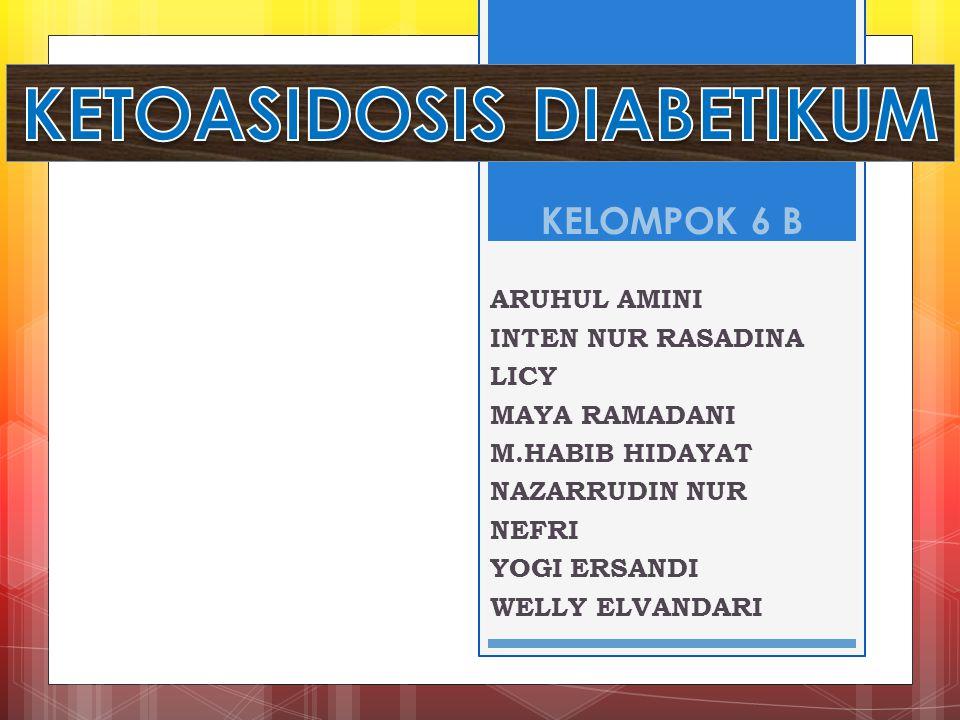 Ketoasidosis diabetikum adalah Keadaan dekompensasi metabolik yang ditandai oleh trias hiperglikemia, asidosis, dan ketosis terutama disebabkan oleh defisiensi insulin absolut atau relatif.