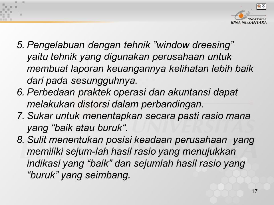 18 Studi Kasus.PT.Mulia Tio data laporan keuangannya untuk tahun 2004 sbb.