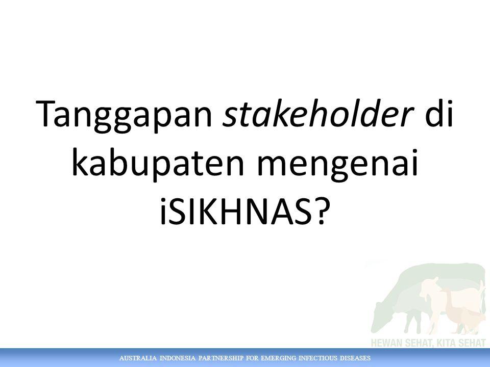 AUSTRALIA INDONESIA PARTNERSHIP FOR EMERGING INFECTIOUS DISEASES Dukungan dari atasan?
